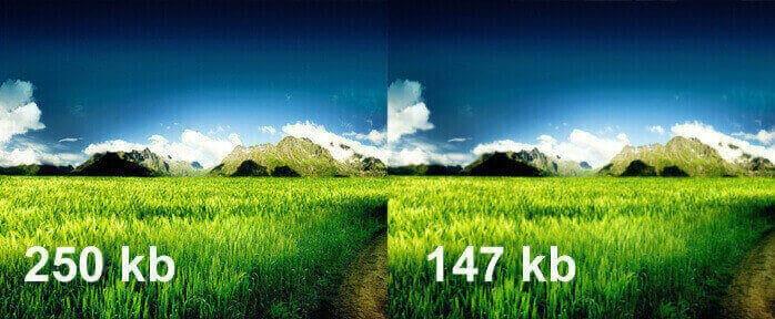 Showing image size