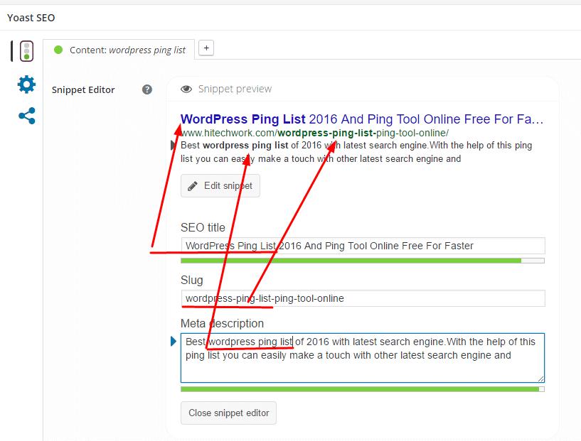 Edit snippest of WordPress
