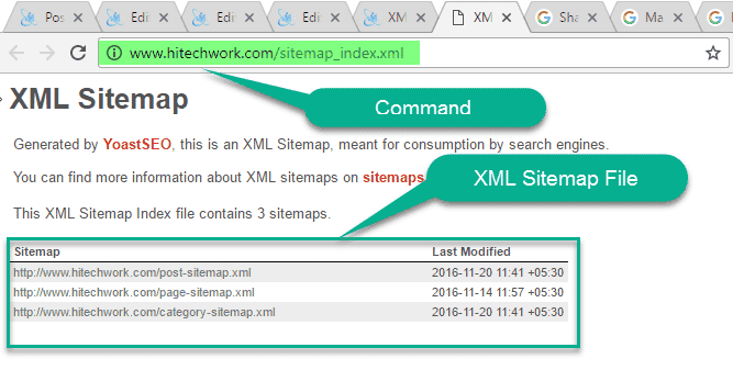 Check XML sitemap with the help of command