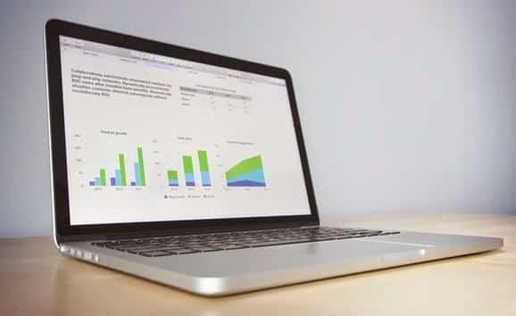 Report of Website shown on computer