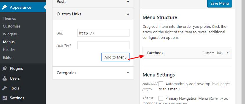 save add to menu