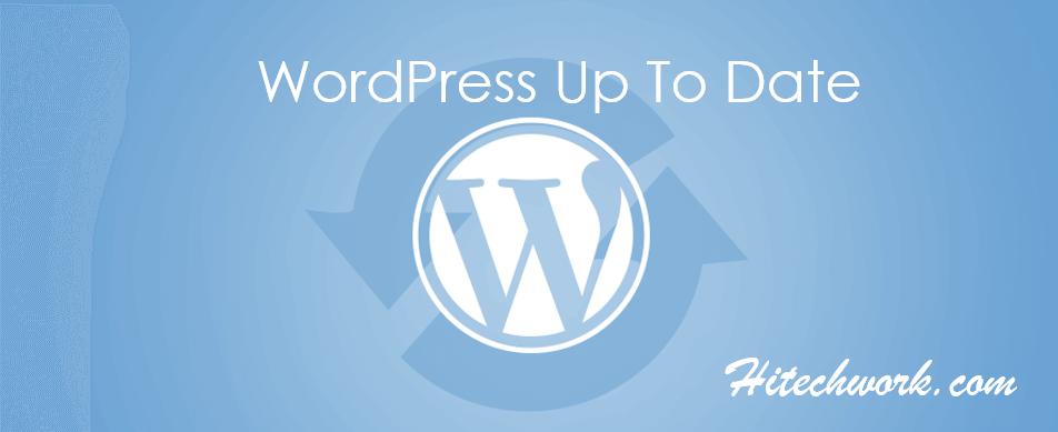 WordPress Up to Date