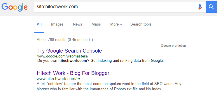 Indexed post In google webmaster tool