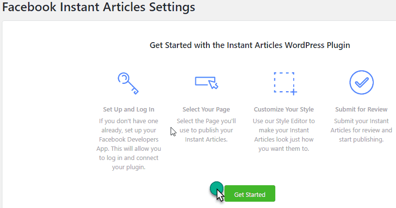 Get Stared With facebook articlePlugin