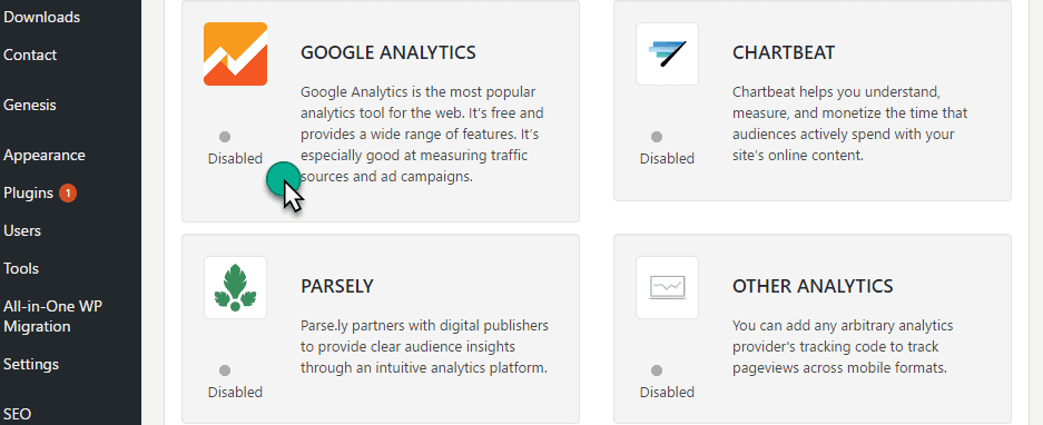 signup amp analytic for amp