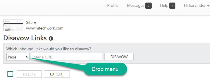 Bing Disavow Tool