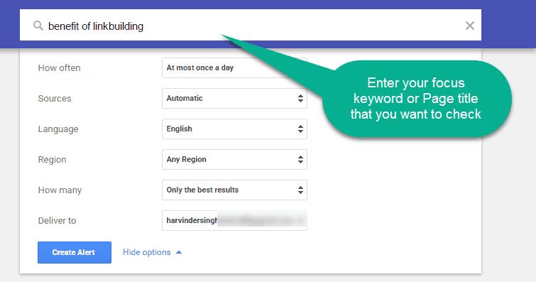 Fill google alert detail for notification