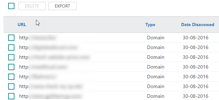 disavow List in bing webmaster tolo