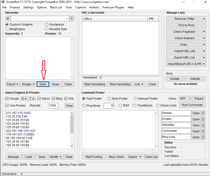 how to scrape the srapebox