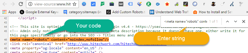 Source Code in chrome browser
