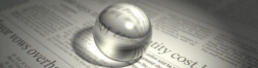 Glass ball on paper batter reading