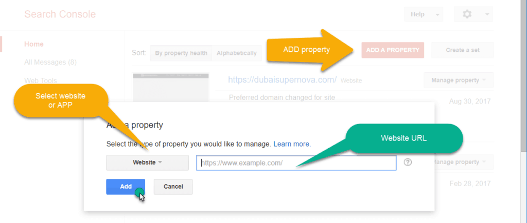 add property in search engine