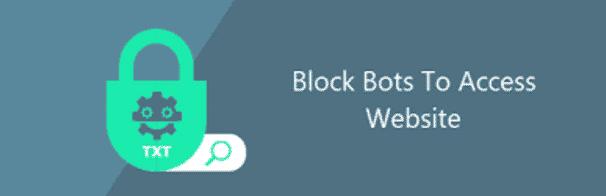 Block Bots to access website