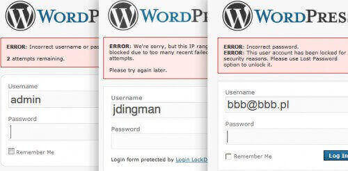 Limit the login in wordpress