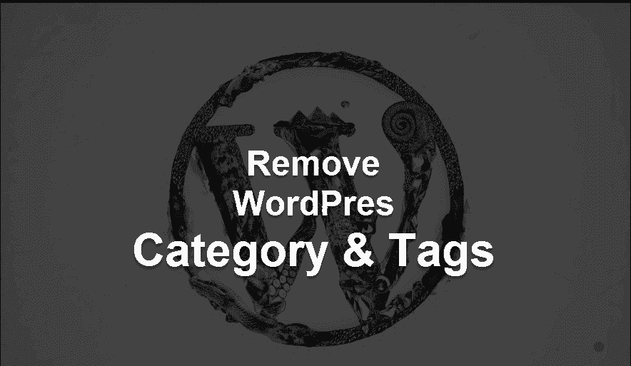 Remove WordPress category And Tags