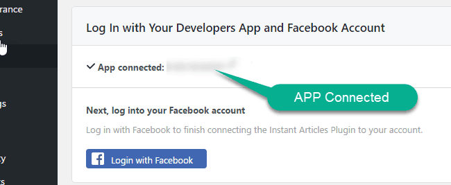 Connect Facebook article plugin to facebook