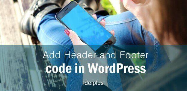 Add Header Footer Code In WordPress