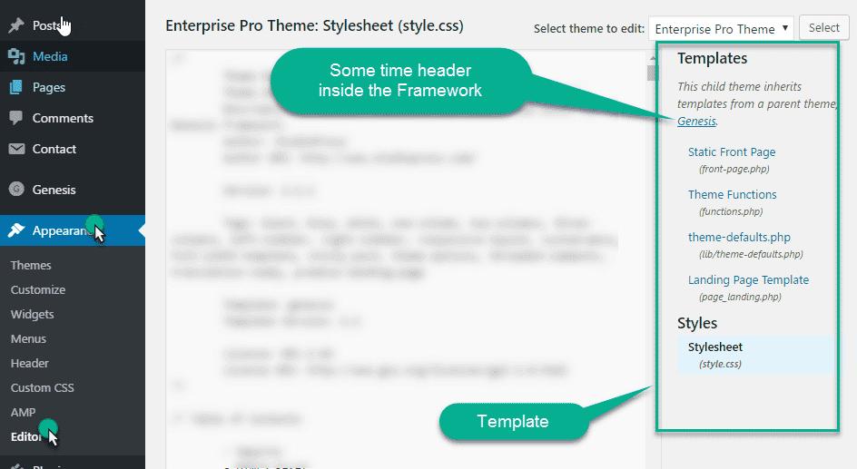 Theme editor in wordpress