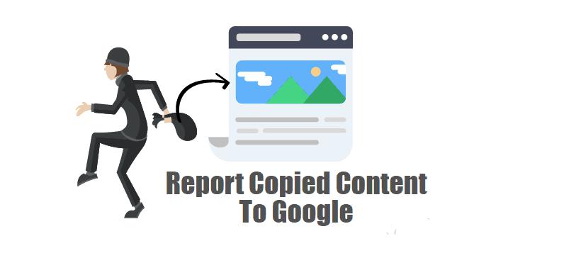 Report Copied Content To Google