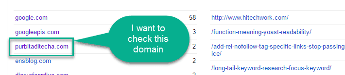 Check domain in webmaster