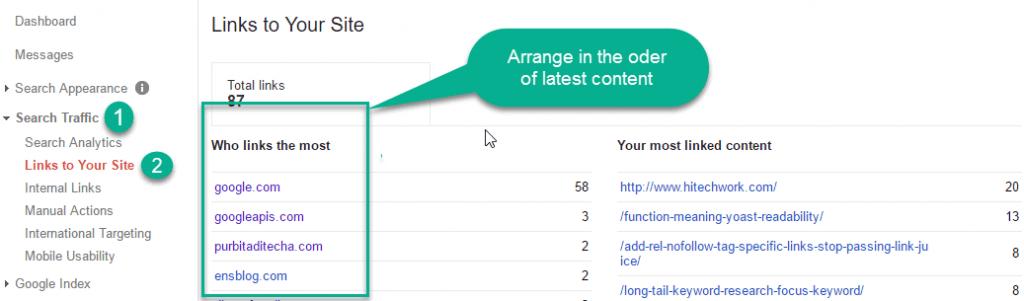 Domain list in the wevmsater