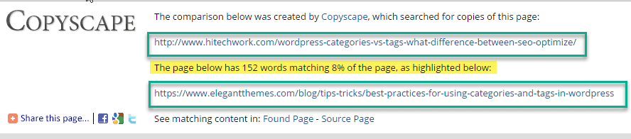 how many percentage page are similar