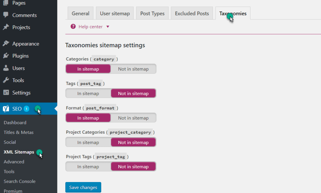 setting the catogery and tag by yoast plugin in wordpress