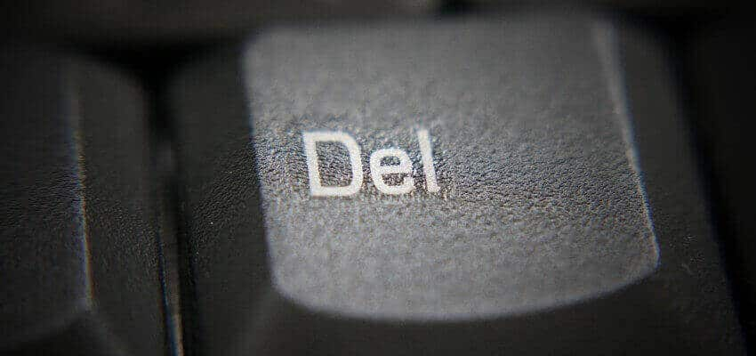 Delete button keyboard