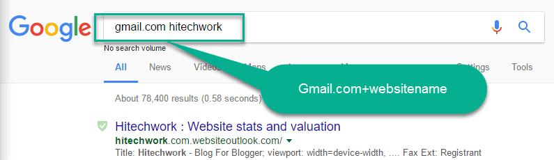 Search command in google search box