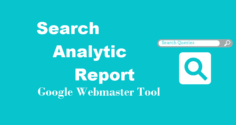 search analytic report in webmaster Tool