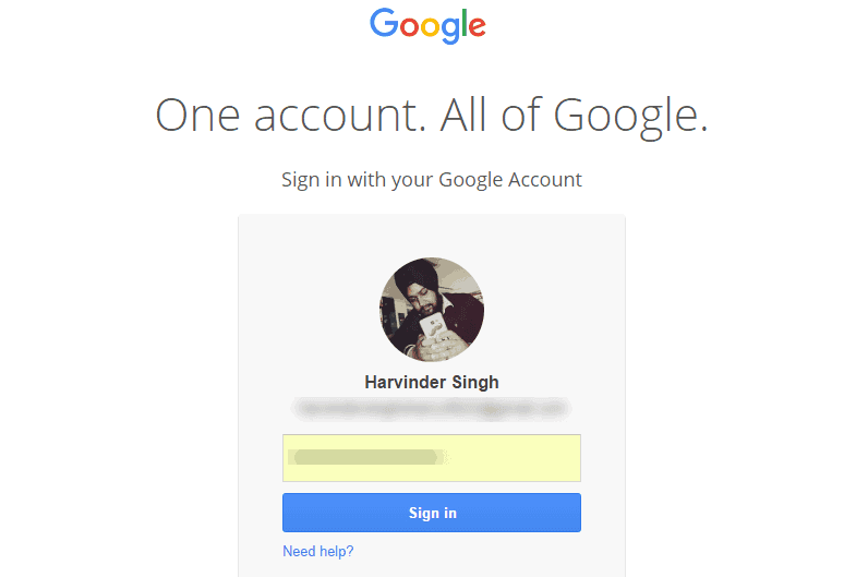 Sign Up your gmail Account