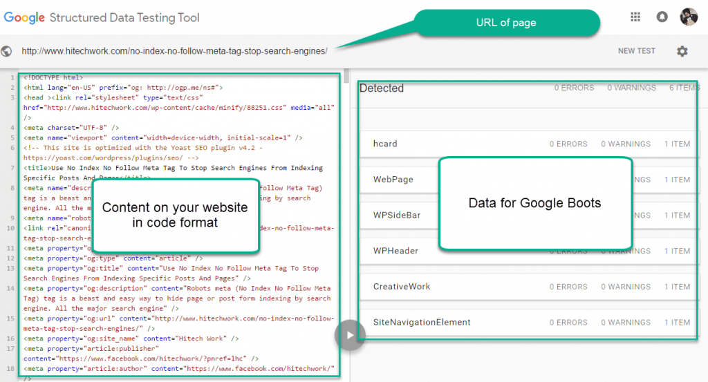 structure data testing tool live