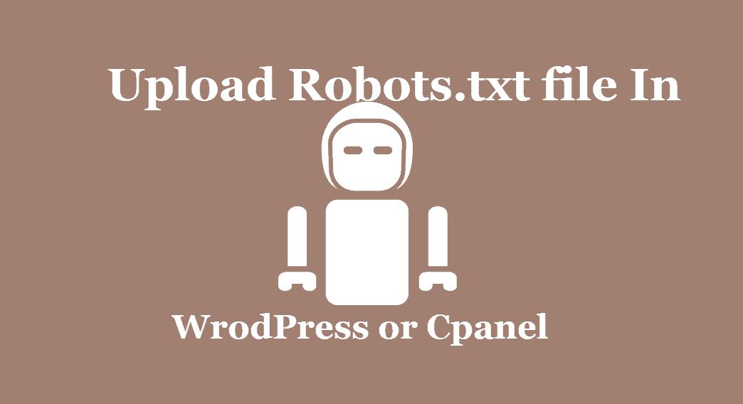 Upload Robots txt file In WordPress
