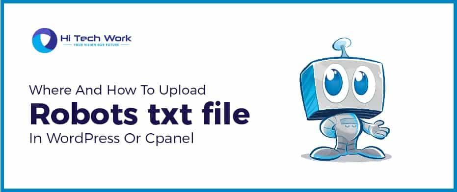 Upload Robots txt file