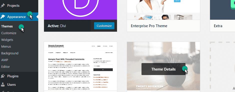 Themes in wordpress