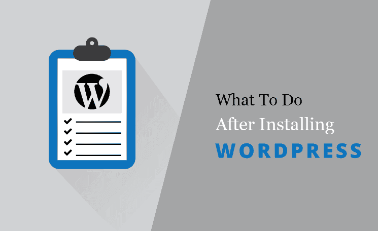 Do these Setting after wordpress insatll