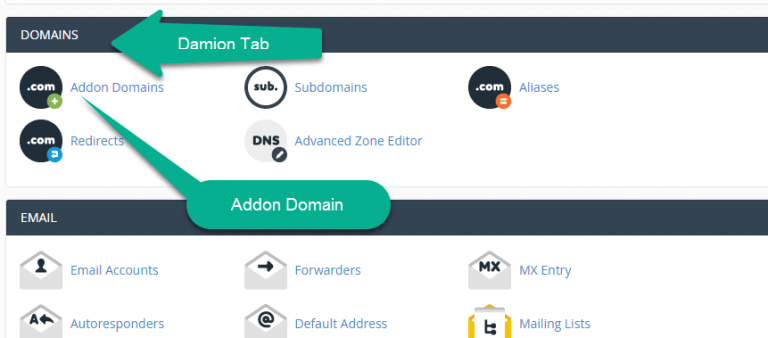 how to create addon domain in cpanel