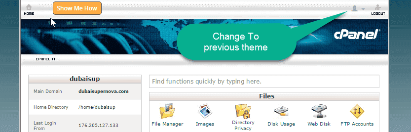 New Cpanel Theme