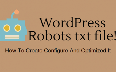 WordPress Robots txt file! How To Create Configure And Optimized It