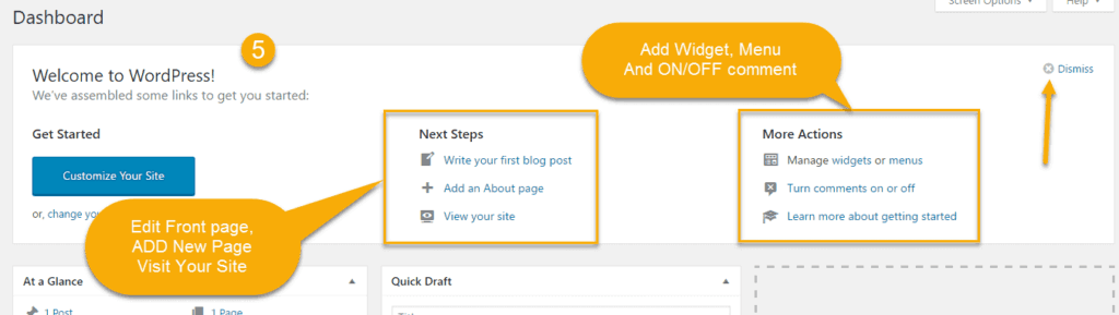 Welcome to WordPress in wordpress first time