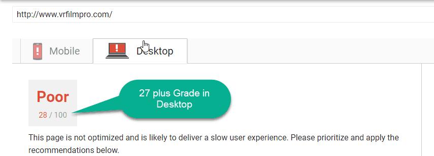 desktop test of google