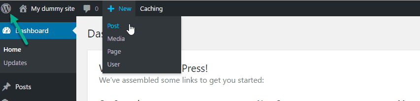 Wordpress Toolbar On dashboard