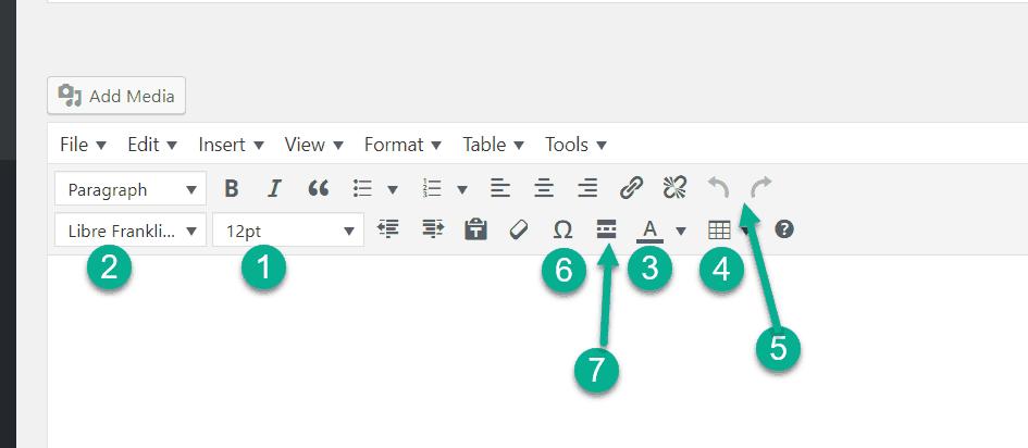a feature of TinyMCE Advanced plugin