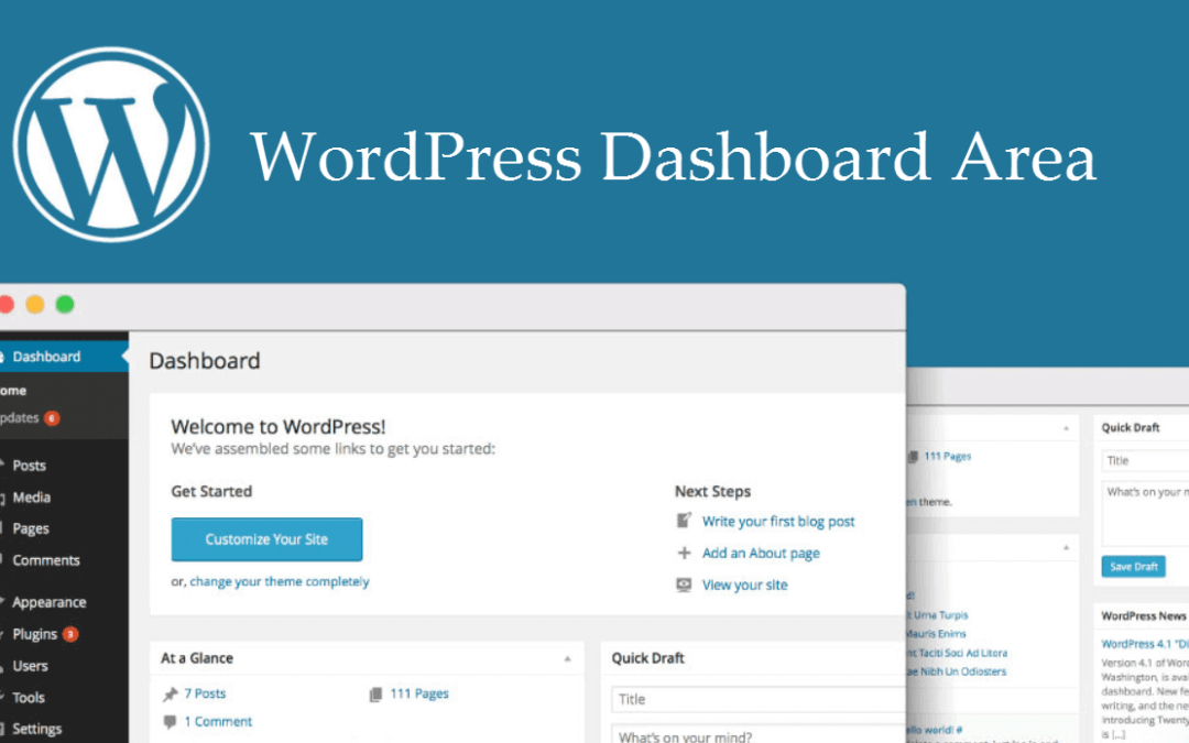 Overview To The WordPress Dashboard Area And Its Feature