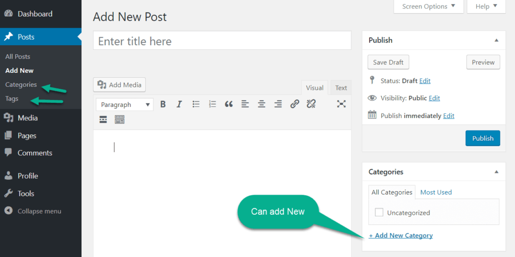 login as a WordPress Editor in wordpress view