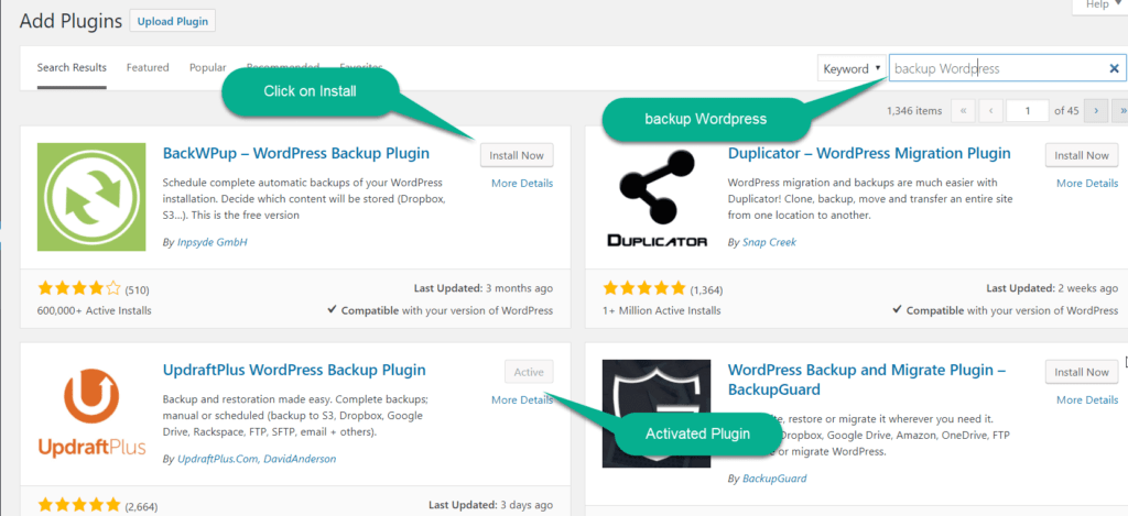 search the plugin in WordPress