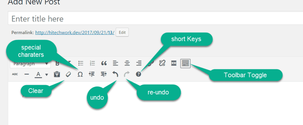 some other wordpress post editor toolbar option
