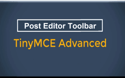 Customize WordPress Post Editor Toolbar with TinyMCE Advanced