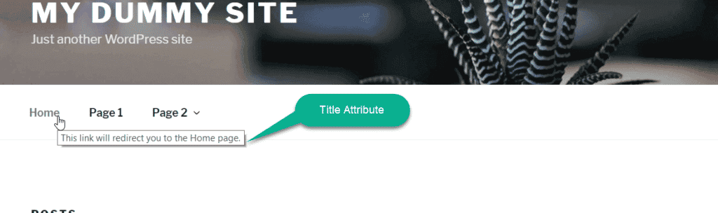 use of title attribute in wordpress