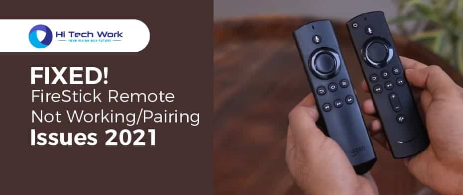 Amazon Firestick With Alexa Remote Not Working